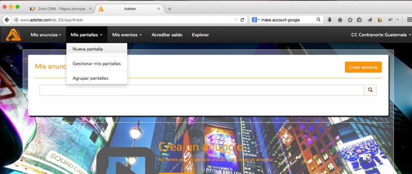 Configurar Adstter DigitalSignage