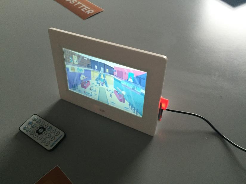 Frame Digital de 7 pulgadas para reproducir fotos yvídeos