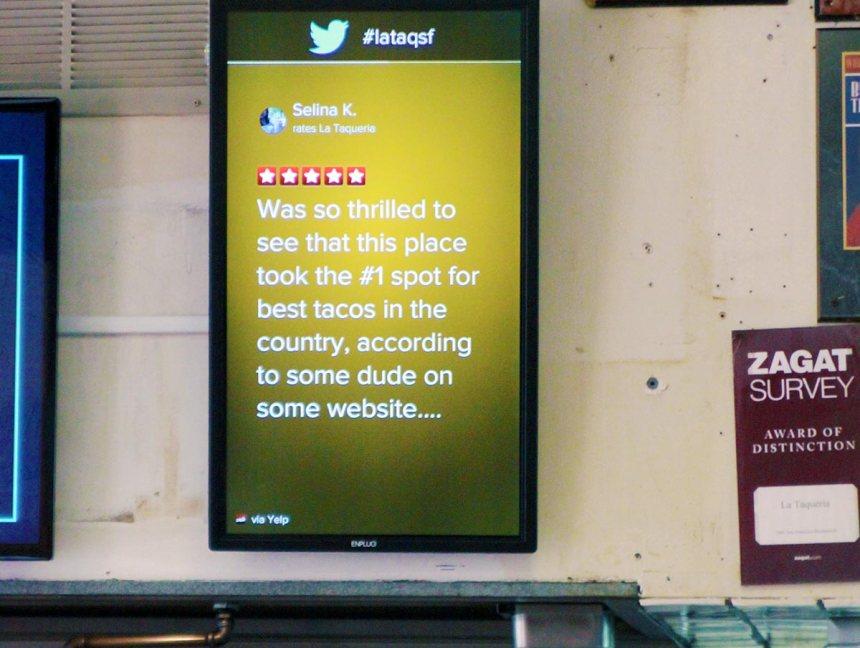 la-taqueria-digital-screen-yelp-reviews
